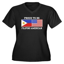 Proud Filipino American Women's Plus Size V-Neck D
