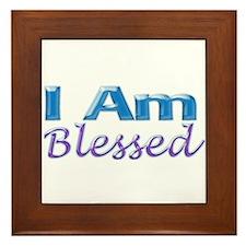 I Am Blessed Framed Tile