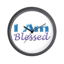 I Am Blessed Wall Clock