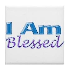 I Am Blessed Tile Coaster