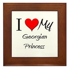 Cute I love georgia Framed Tile
