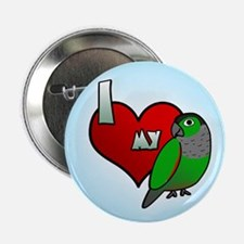 I Love my Black-Capped Conure Button