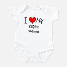 I Love My Filipino Princess Infant Bodysuit