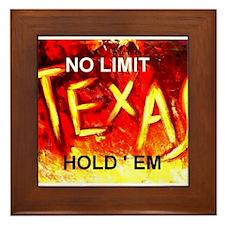 Unique Texas hold em Framed Tile