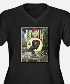 POW MIA Women's Plus Size V-Neck Dark T-Shirt
