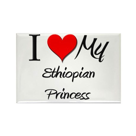 I Love My Ethiopian Princess Rectangle Magnet