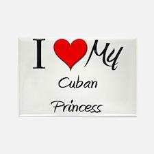 I Love My Cuban Princess Rectangle Magnet