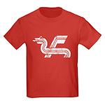 Dragon logo Distressed Kids Dark T-Shirt