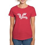 Dragon logo Distressed Women's Dark T-Shirt