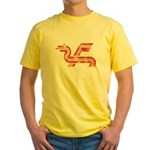 Dragon logo Distressed Yellow T-Shirt