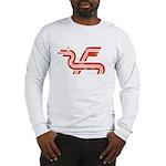 Dragon logo Distressed Long Sleeve T-Shirt