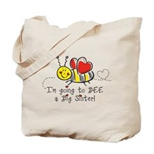 Bee Big Sister Tote Bag