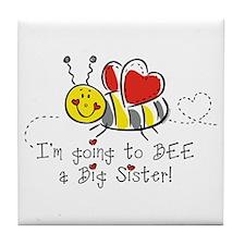 Bee Big Sister Tile Coaster