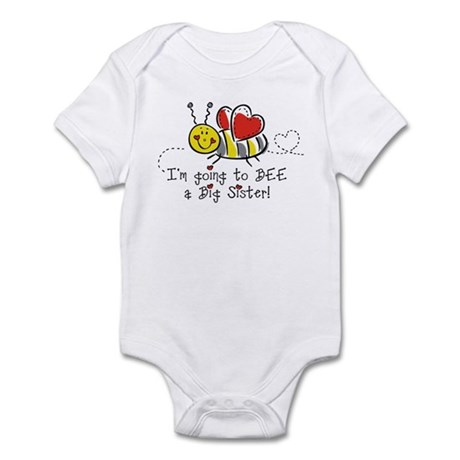 Bee Big Sister Infant Bodysuit