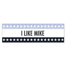 I Like Mike Bumper Bumper Sticker