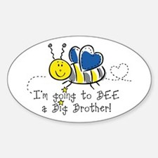 Bee Big Brother Oval Decal