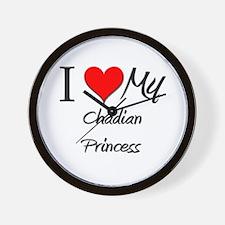 I Love My Chadian Princess Wall Clock