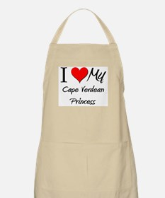 I Love My Cape Verdean Princess BBQ Apron