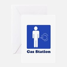 Men - Nature's Gas Station Greeting Card