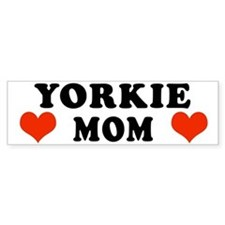 Yorkie Mom Bumper Bumper Sticker