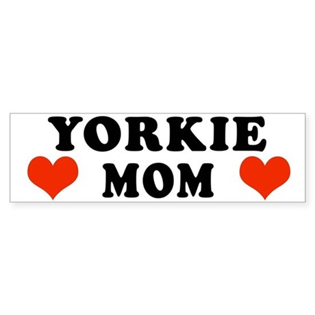 Yorkie Mom Bumper Sticker