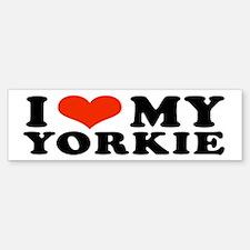 I (Heart) My Yorkie Bumper Bumper Bumper Sticker