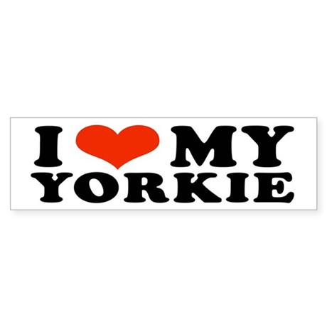I (Heart) My Yorkie Bumper Sticker