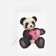 I Heart U Panda Greeting Card