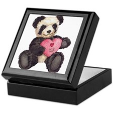 I Heart U Panda Keepsake Box