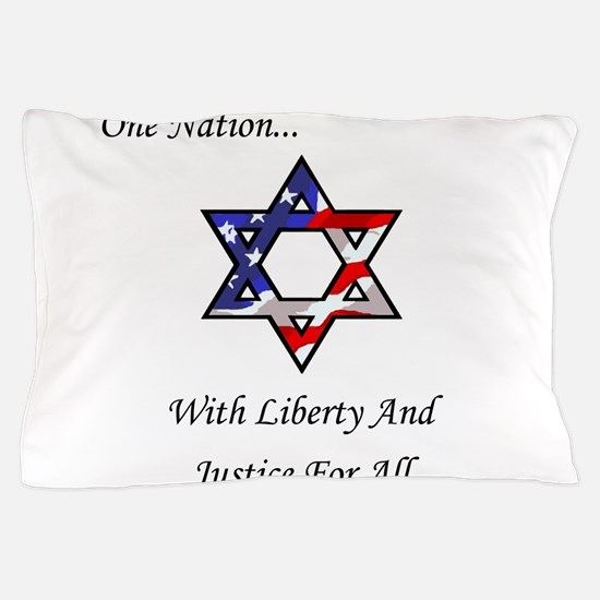 One Nation Jewish Pillow Case