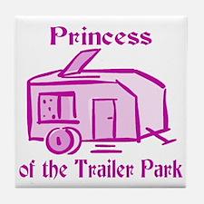 Princess of Trailer Park Tile Coaster