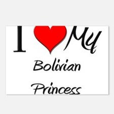 I Love My Bolivian Princess Postcards (Package of