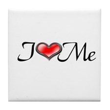 I Heart Me Tile Coaster