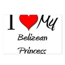 I Love My Belizean Princess Postcards (Package of