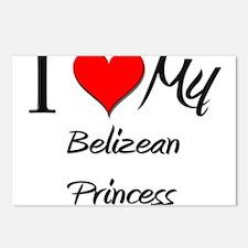 I Love My Belizean Princess Postcards (Package of