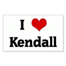 I Love Kendall Rectangle Decal