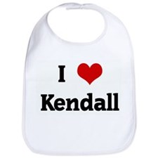 I Love Kendall Bib