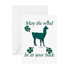 Llama & Shamrocks Greeting Card