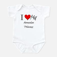 I Love My Armenian Princess Infant Bodysuit