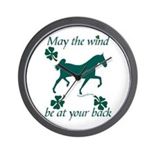 Saddlebred and Shamrocks Wall Clock