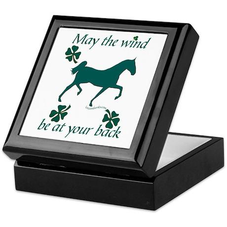 Saddlebred and Shamrocks Keepsake Box