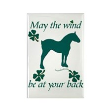 Draft Horse and Shamrocks Rectangle Magnet