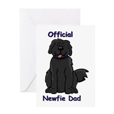 Newfie Dad Greeting Card