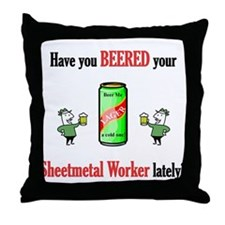Sheetmetal Worker Throw Pillow