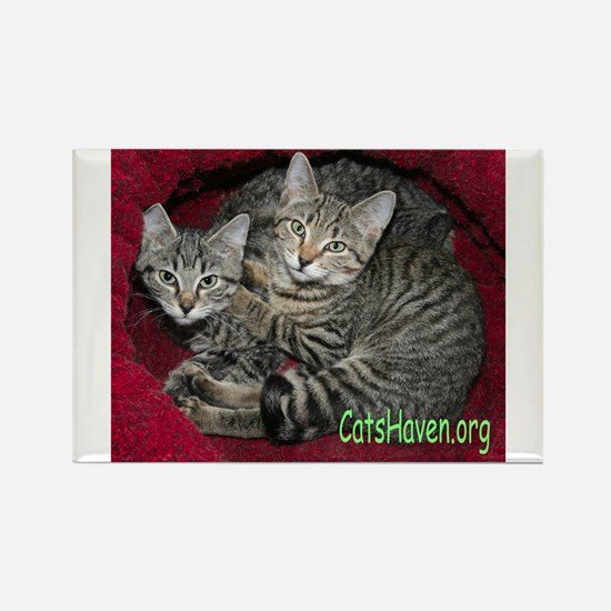 Cats Haven Rescue 618 Rectangle Magnet