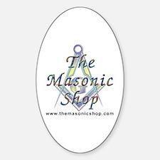 The Masonic Shop Logo Sticker (Oval)