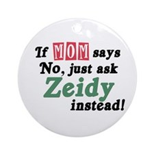 Just Ask Zeidy! Ornament (Round)