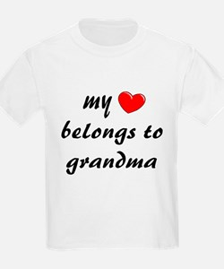 My Heart belongs to Grandma T-Shirt