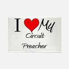 I Heart My Circuit Preacher Rectangle Magnet