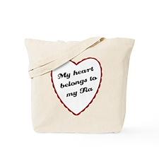 My Heart Belongs to My Tia Tote Bag